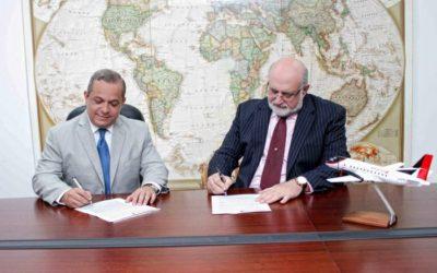 Air Century y Banco del Progreso realizan convenio