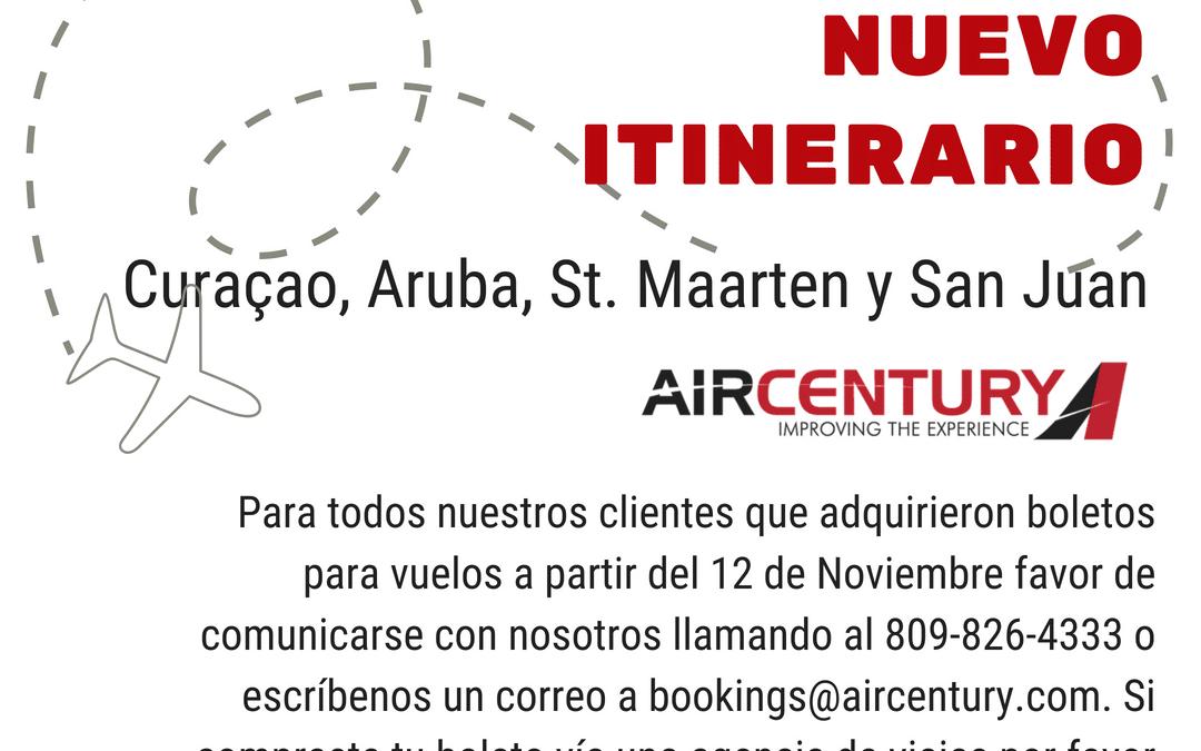 Air Century anuncia nuevos itinerarios