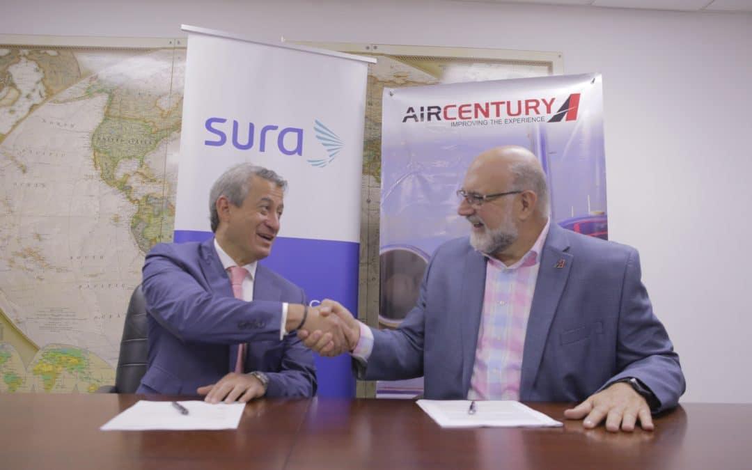 Air Century y Seguros SURA realizan alianza comercial  para ofrecer seguro de asistencia en viajes